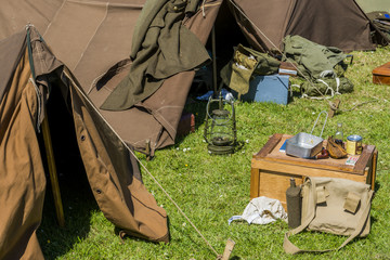 Equipment with Tent Second World War