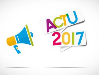 mégaphone multicolore : actu 2017