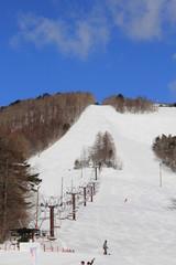 泉ヶ岳スキー場のゲレンデ(宮城県)
