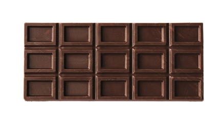 Fototapete - Chocolate bar, isolated on white