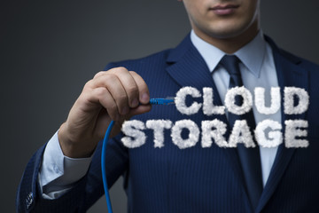 Cloud computing storage in IT concept