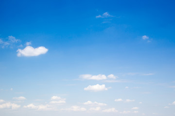 Group of cloud in the blue sky background.