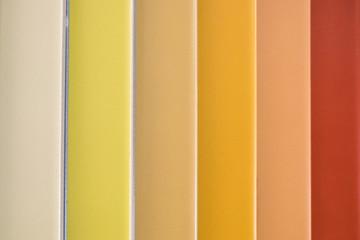 red, yellow orange colors - ceramic tiles color samples
