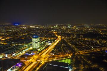 Munich City Panorama by Night
