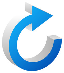 Circular arrow for cycle, loop, sync or rotation related icon