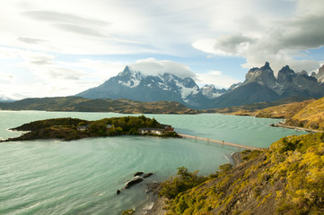 Fotobehang - Pehoe Lake - Torres Del Paine National Park - Chile