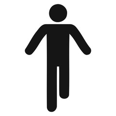 Walking Stick Figure Black Icon