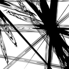 Black and white texture / pattern with random chaotic shapes