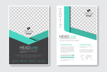 Template Design Brochure Set, Annual Report, Magazine, Poster, Corporate Presentation Collection, Portfolio, Flyer With Copy Space Vector Illustration Wall mural