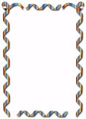 Blue Rainbow Ribbon Border