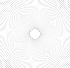 Abstract pattern with radial lines. Radial, radiating lines with distortion effect. Circular geometric pattern