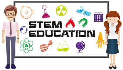 Teachers and stem education on board