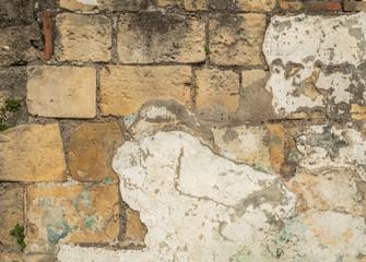 Foto auf AluDibond Alte schmutzig texturierte wand Historic stone wall, old stone wall