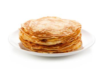 Pancakes and ingredients