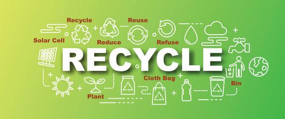 recycle vector trendy banner