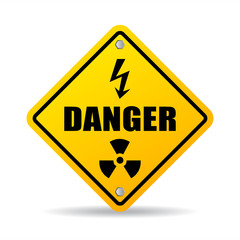 Danger zone caution vector sign