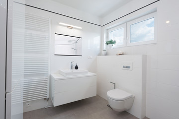 Modern bathroom interior in modern house