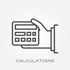 Line icon calculations