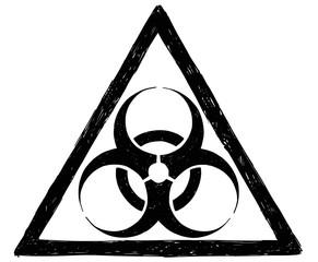 Biohazard Symbol Sign Vector Drawing