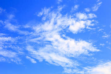 Blue sky with cloud white, sky clear beautiful background.