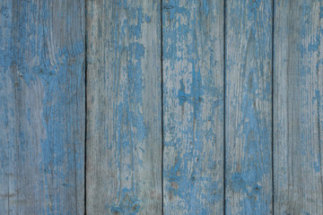 Blue wood texture of old boards