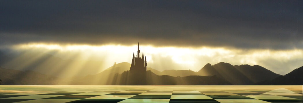 castle and chequered land