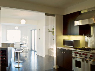 inerior view of a modern kitchen