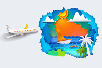 Aircraft flying to summer tropics