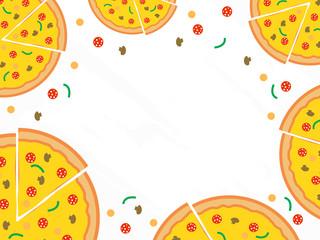 Pizza menu vector background. Restaurant cafe menu, template design.