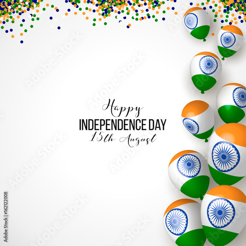 India Happy Independence Day 15th August Background Design