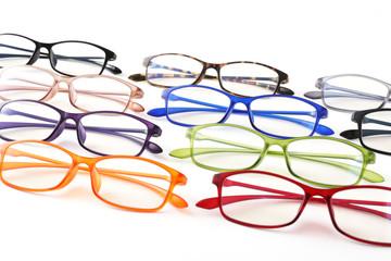 メガネ 眼鏡 めがね 集合 カラフル