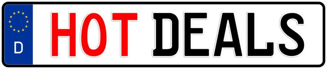 spkw8 SignPersonenKraftWagen spkw - hot deals - license plate - (original ratio 520 X 110 mm) - banner xxl g5245
