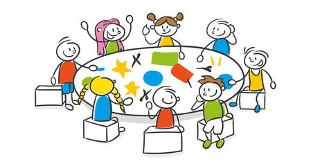 Schulklasse im unterricht clipart  Bilder und Videos suchen: schulkinder
