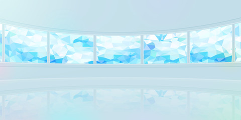 panorama wide background Cubism pattern monitor blue
