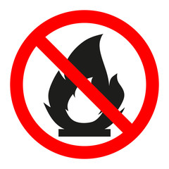 Sign is prohibited fire