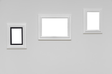 frame on grey wall
