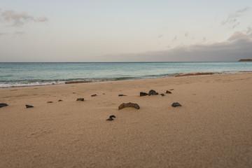 Stand, Steine, Fuerteventura, Morgen,