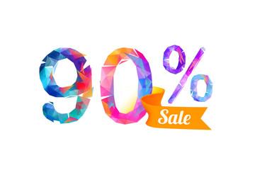 90 (ninety) percents sale