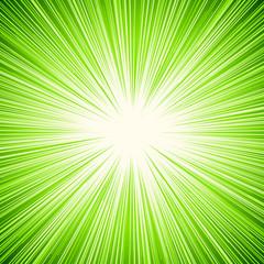 Starburst, sunburst, rays of light element. Circular, radial lines pattern as glimmer, glitter, gleam, spotlight effect