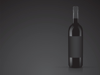 wine for your design and logo Mock Up