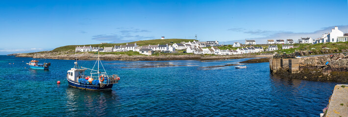 Panorama of Portnahaven, Isle of Islay, Scotland