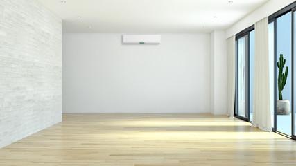 Modern empty living room. 3D rendering