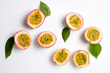 Printed roller blinds Fruits Passion fruit isolated on white background