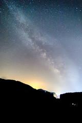 Milky Way over the Meteora, Greece