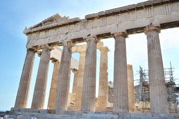 ancient Parthenon Acropolis in Athens Greece