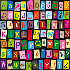 Buntes Alphabet