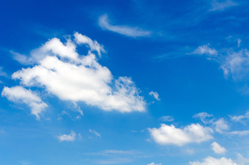 blue sky with cloud for background, sunny day in summer