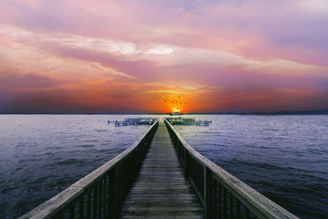 Canvas Prints Light pink Sunset in Mount Dora, FL