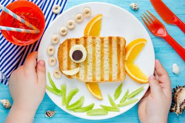 Fish sandwich creative idea for kids