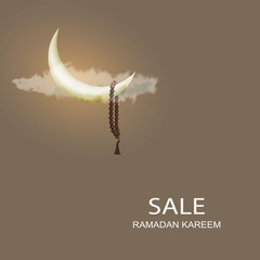 Design Ramadan background greeting card sale.